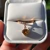 .84ct Fancy Deep Orange-Yellow Shield Shape Diamond Charm Ring 2