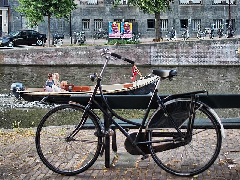 Typical scene in Amsterdam