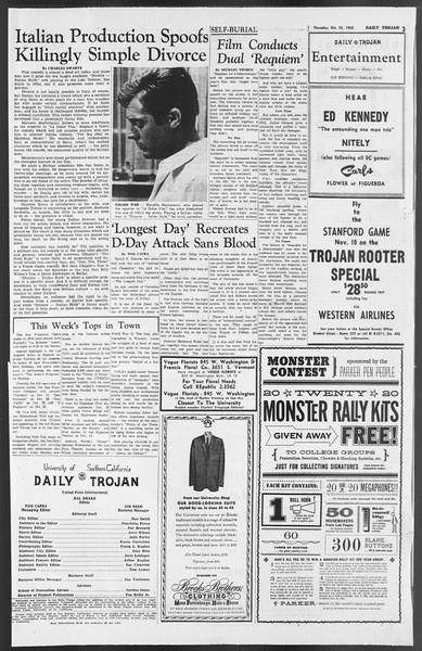 Daily Trojan, Vol. 54, No. 23, October 25, 1962