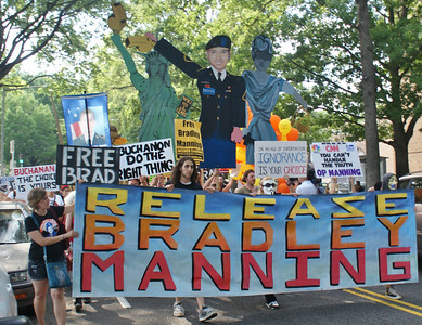 Bradley Manning Support Demonstration - Ft McNair - Washington, DC 7/26/13