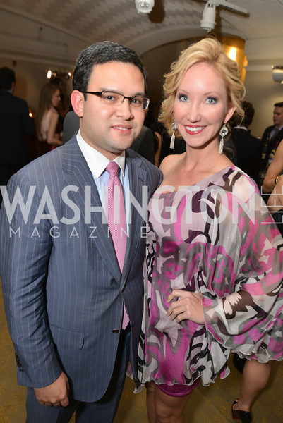 Mark Vargas, Lindsey Mask, Washington Life Magazine hosts the 8th Annual Young and the Guest List party at the Carnegie Library.  Photo by Ben Droz.