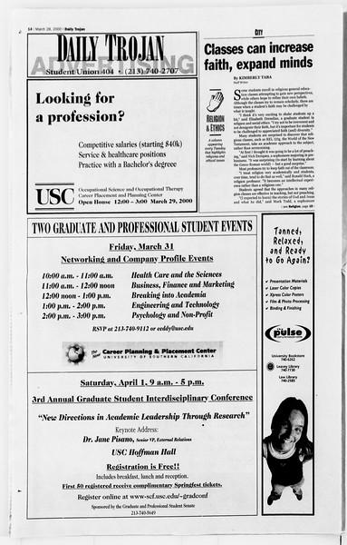 Daily Trojan, Vol. 139, No. 45, March 28, 2000