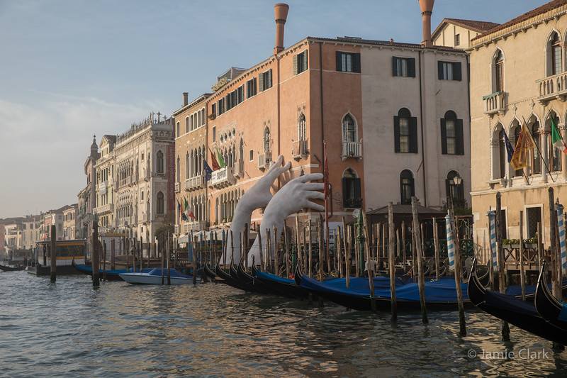 """""""Support"""" by Lorenzo Quinn @ https://www.lorenzoquinn.com /Vaporetto ride in Venice, Italy -  October 2017"""