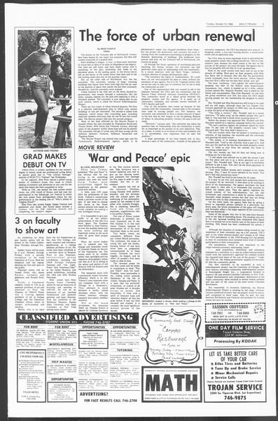 Daily Trojan, Vol. 60, No. 19, October 15, 1968
