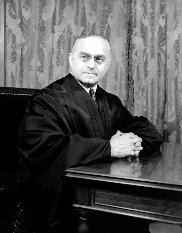 . Felix Frankfurter, the new associate justice of the United States Supreme Court, poses in his judicial robe for his portrait in Washington, D.C., on Feb. 4, 1939.  (AP Photo)