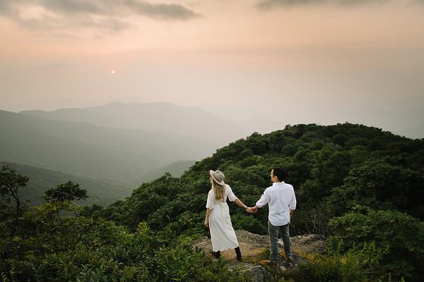 Elizabeth and Sal's Engagement Shoot in Asheville, North Carolina