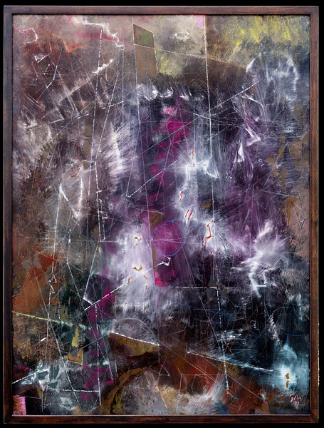 "Mark Tobey: ""Above the Earth.""  (Tobey painted this in 1953.   Three years later, he attended Carol's senior violin recital at the University of Washington.)"