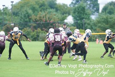 09-08-2018 Rockville Football League Intermediates Navy Seminoles vs Richard Montgomery Rockets at King Farm Park Rockville MD, Photos by Jeffrey Vogt Photography