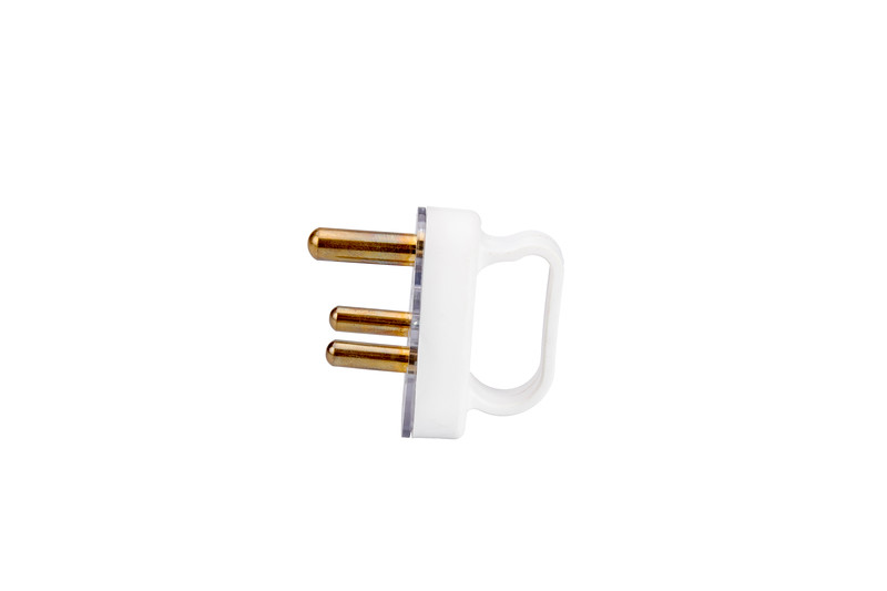 SAFY, White, 3-Prong Plug with Handle, SF-A017