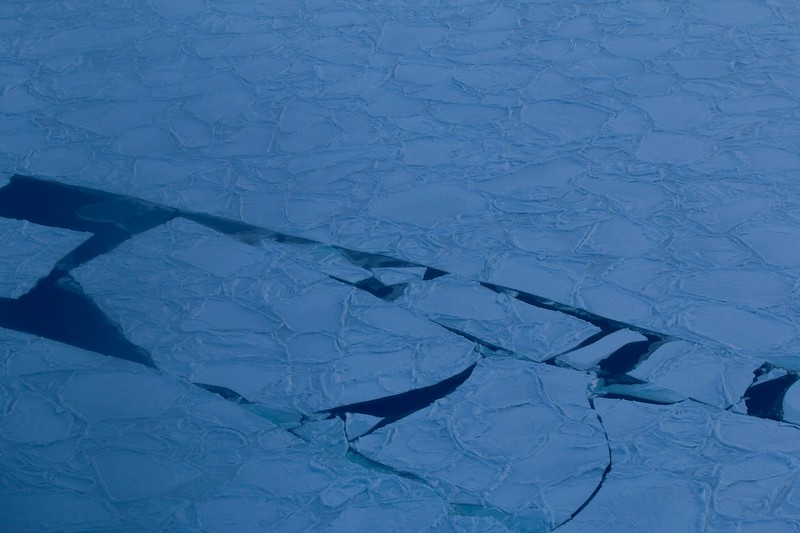 Ice patterns and water on Hudson Bay