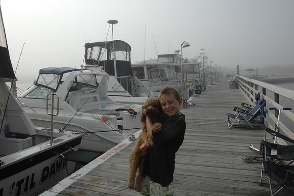 boat /kids at Beach