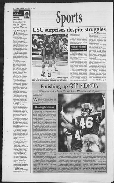 Daily Trojan, Vol. 132, No. 44, October 30, 1997