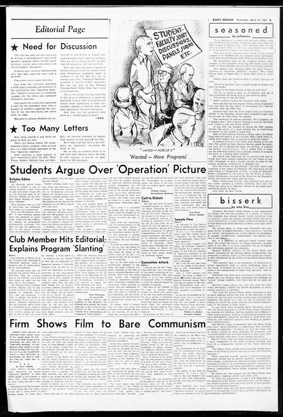 Daily Trojan, Vol. 52, No. 91, March 15, 1961