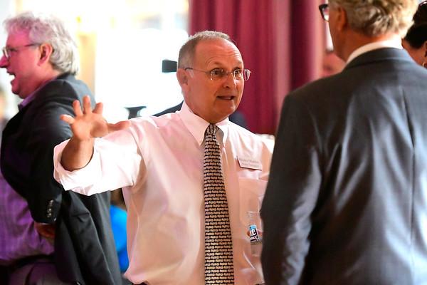 8/31/2018 Mike Orazzi | Staff State Senator Henri Martin during the 137th Crocodile Club at Lake Compounce Friday.