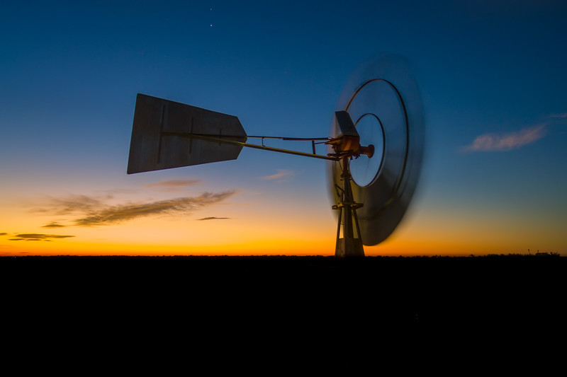 Silverado Ranch Windmill shot from 36 feet.