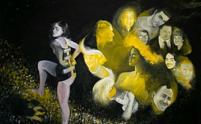 """""""Burning Bush"""" (oil) by Michaela Lozada"""