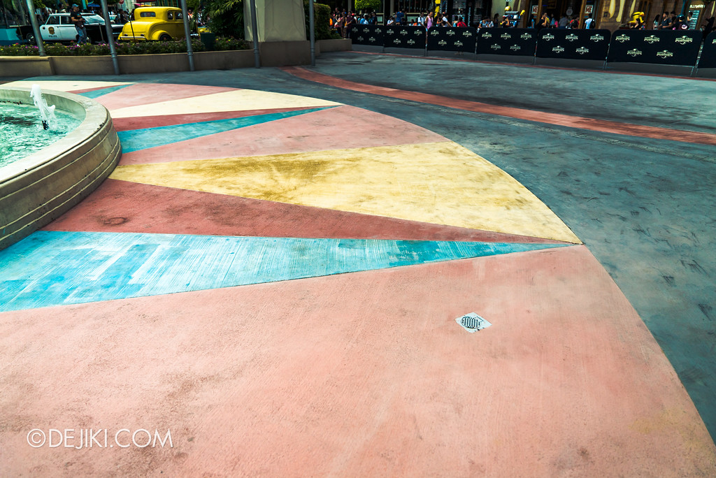 Universal Studios Singapore Park Update June 2017 - Hollywood Promenade Floor Repaving