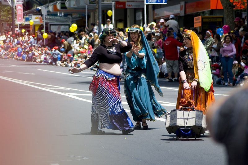 Belly dancers Santa Parade Auckland New Zealand - 27 Nov 2005