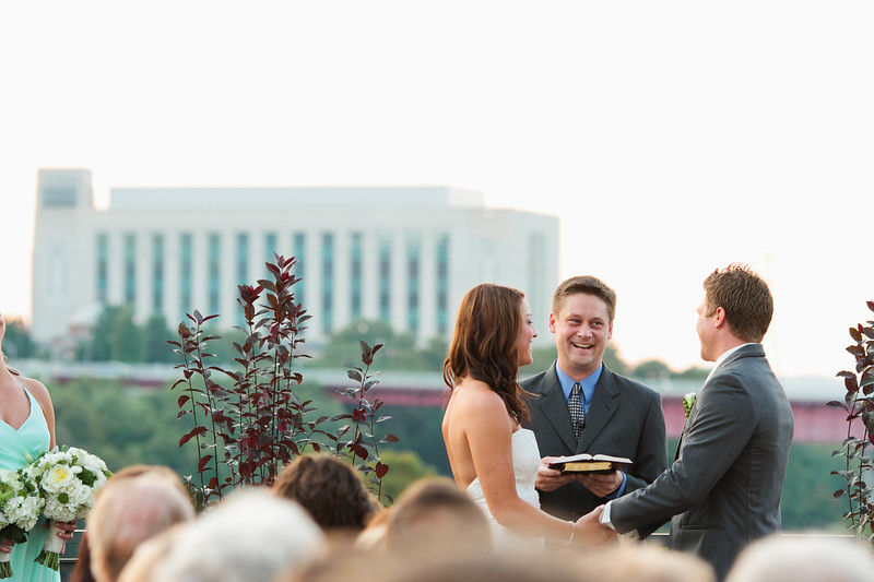 the bridge building wedding ceremony