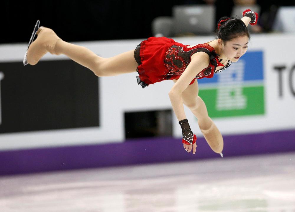 . Zijun Li of China performs during the Ladies Short Program at the ISU World Figure Skating Championships in London, Ontario, March 14, 2013. REUTERS/Mark Blinch