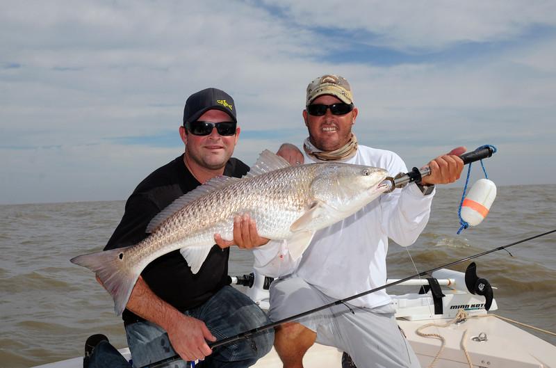 Chris Wilson and Adam Paul GillzNfinz Redfish 10 2009 7.jpg