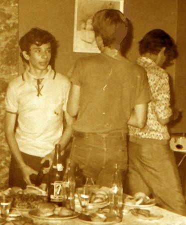 David Luna, Luis Valente e Pedro Cadete, em 1973