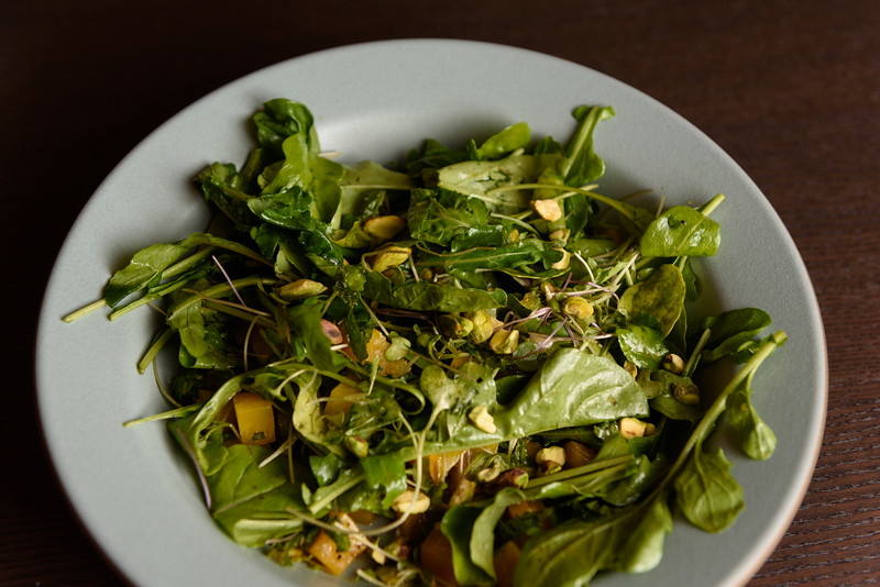 arugula, pistachio, and beet salad