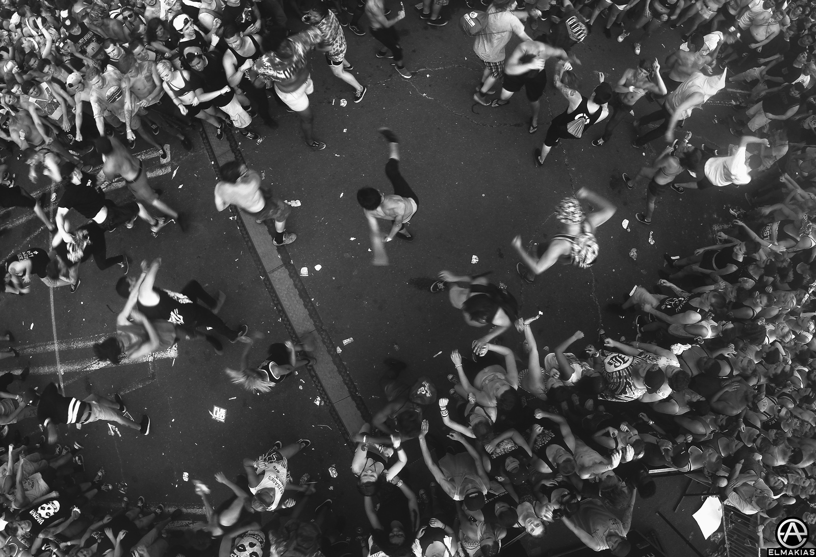 Moshpit during Beartooth live at Vans Warped Tour 2015 by Adam Elmakias