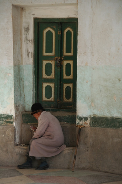 Old Uighur Man at Mosque - Kashgar, China