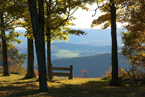 14 10 12 Fall Scenery Mercur Hill & Mt Pisgah
