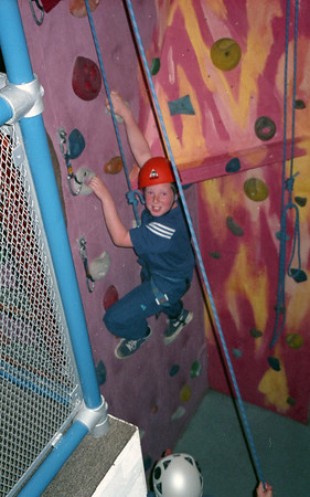 2001-05-30 Climbing at Stafford Scouts Climbing Wall