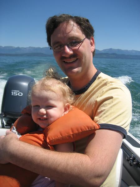 Ellen's first boat ride. She loved it!!
