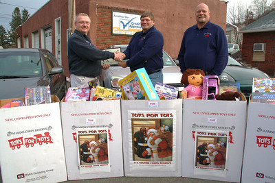 Toys For Tots Donation, Ron's Auto, Lansford (12-14-2011)