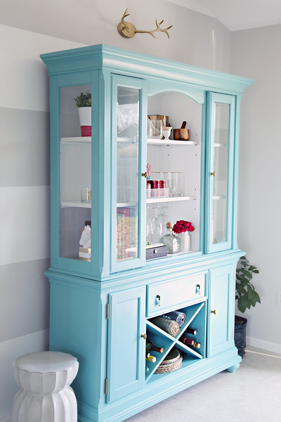 Painted Dining Room Hutch