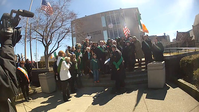 2015 Cleveland Saint Patrick's Day Parade - Singing of the National Anthems and Step-off