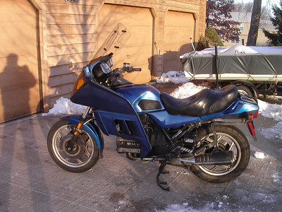 old blue outside