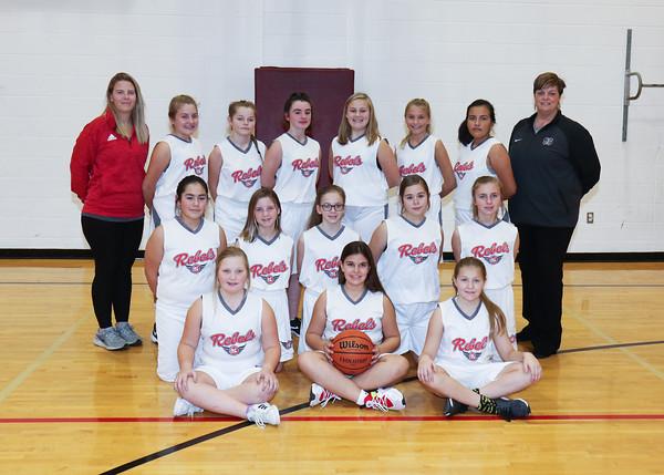 SNMS Girls Basketball 6th Grade Team 2019