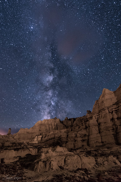 Plaza Blanca and the Milky Way
