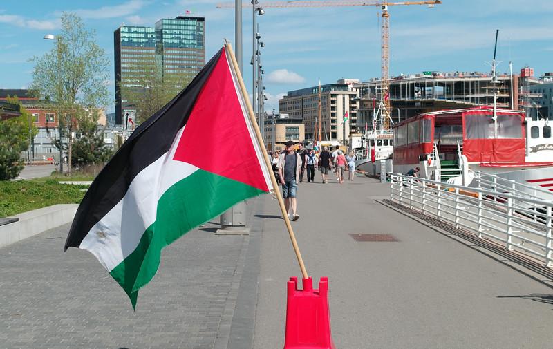 Palestinian flag - Oslo 2018
