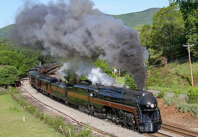 N&W 611 on Blue Ridge and Christiansburg Districts, 5/7 and 5/8 2016