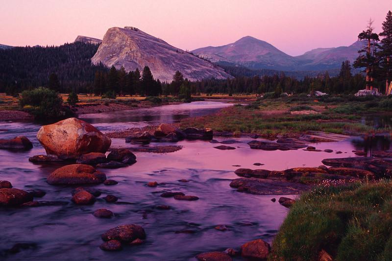 Lembert Dome at Dusk Yosemite National Park California