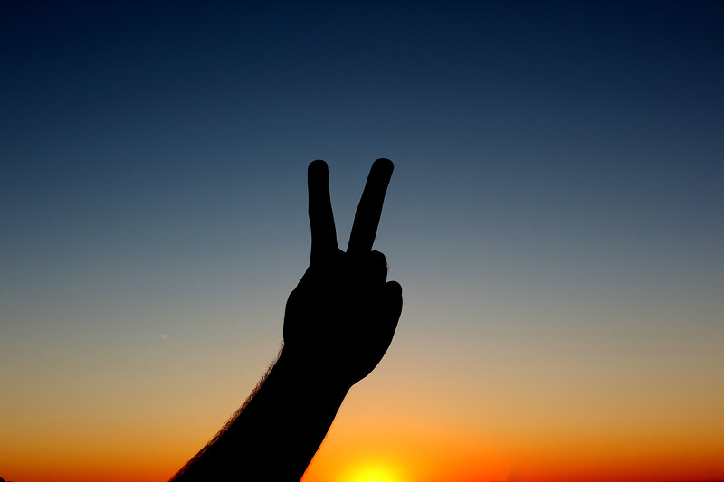 Peace - Sunset Silhouette - September 2013