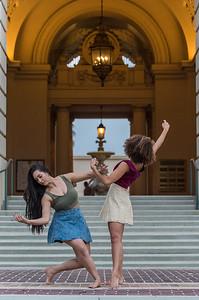Cosmo and Ilia at the Pasadena City Hall