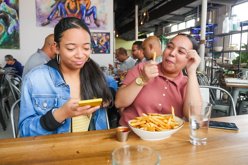 They ordered a whole bowl of fries!