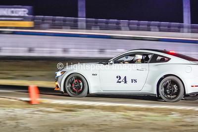 #24 J. Brown - White Mustang GT