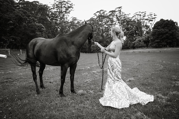 Emily Yr 12 Formal - Black & White