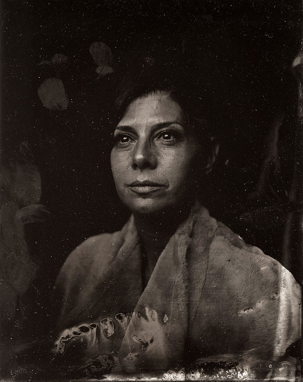 . Maria Tomei poses for a tintype (wet collodion) portrait at The Collective and Gibson Lounge Powered by CEG, during the 2014 Sundance Film Festival in Park City, Utah. (Photo by Victoria Will/Invision/AP)