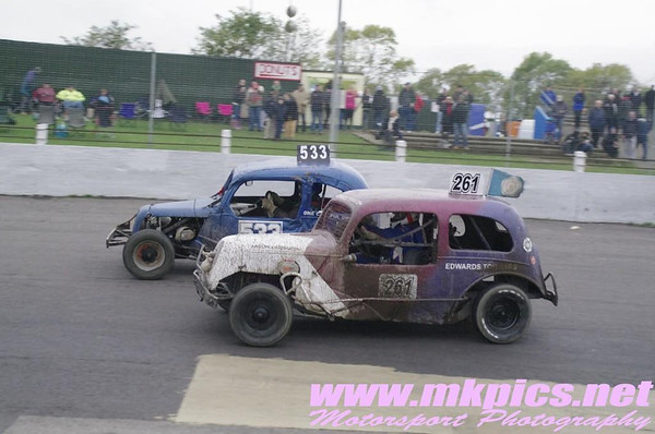 Historic F1 & F2 Stockcars, Northampton, 20 October 2013