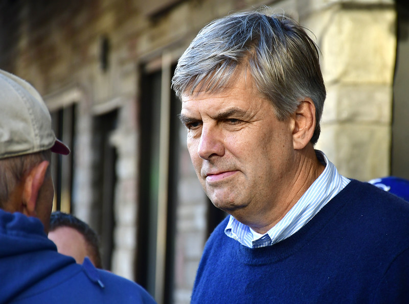 11/3/2018 Mike Orazzi | Staff Republican Gubernatorial candidate Bob Stefanowski and several other GOP hopefuls during a visit to New Britain's Little Poland Saturday.