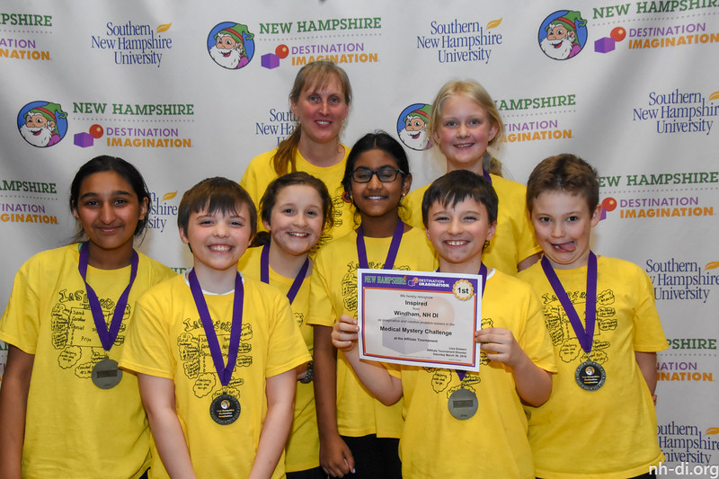 1sr place. 130-53356- Windham- NH DI- Windham NH- Inspired- Elementary- Medical Mystery- Scientfic Challenge